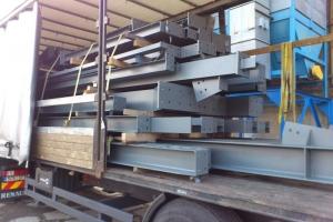 ošetřená ocelová konstrukce